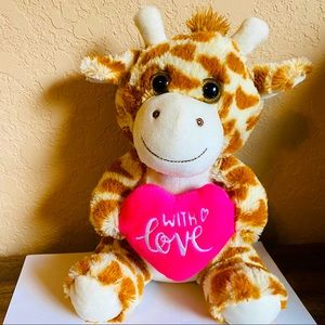 "Giraffe Plush 10 inches ""with love"""